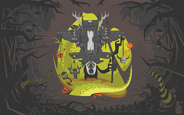shaman ilustr wall