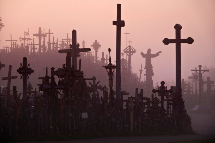 The hill of crosses in Lithuania, a pilgrimage site which has moved beyond its anti-soviet beginnings to become a symbol of independence for the tiny Baltic nation. Click  here  for the story.